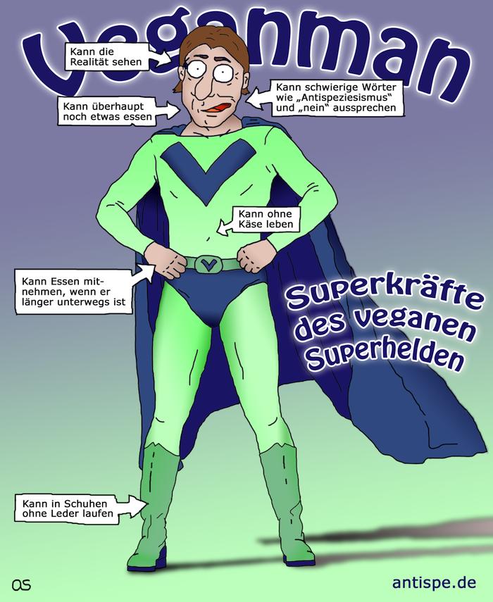 Superkräfte des veganen Superhelden