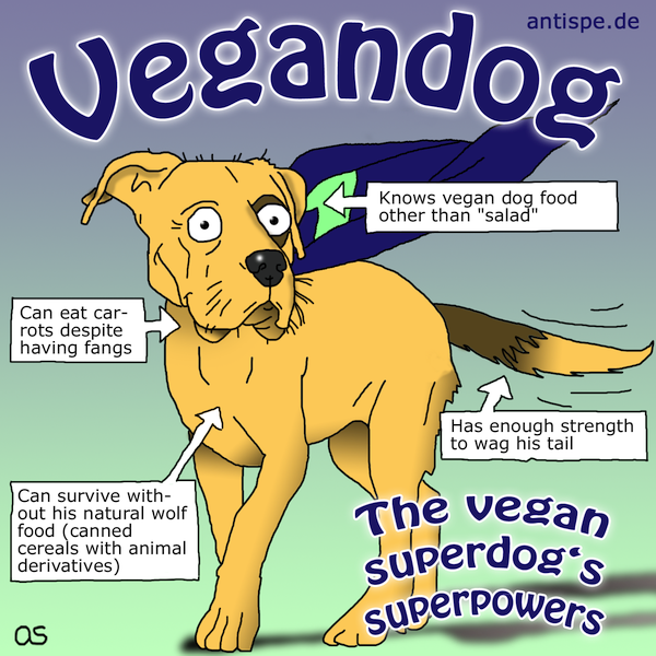 Vegandog: The vegan superdog's superpowers